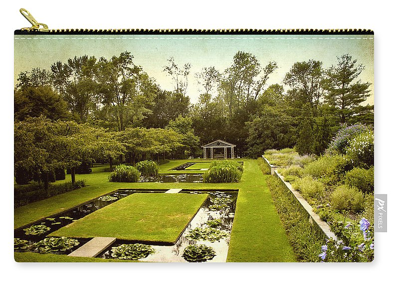 Nature Carry-all Pouch featuring the photograph Lily Pond Garden by Jessica Jenney