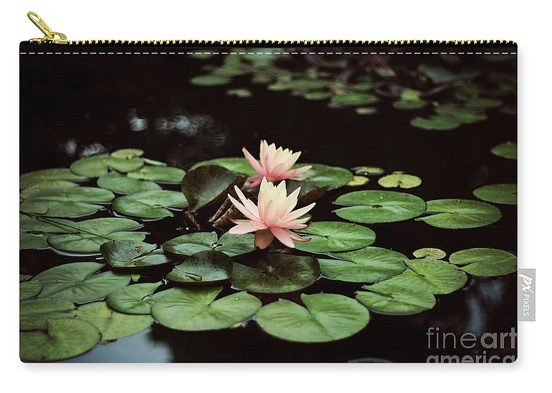 Flowers Carry-all Pouch featuring the photograph Lilypad And Lotus by Bethany Helzer