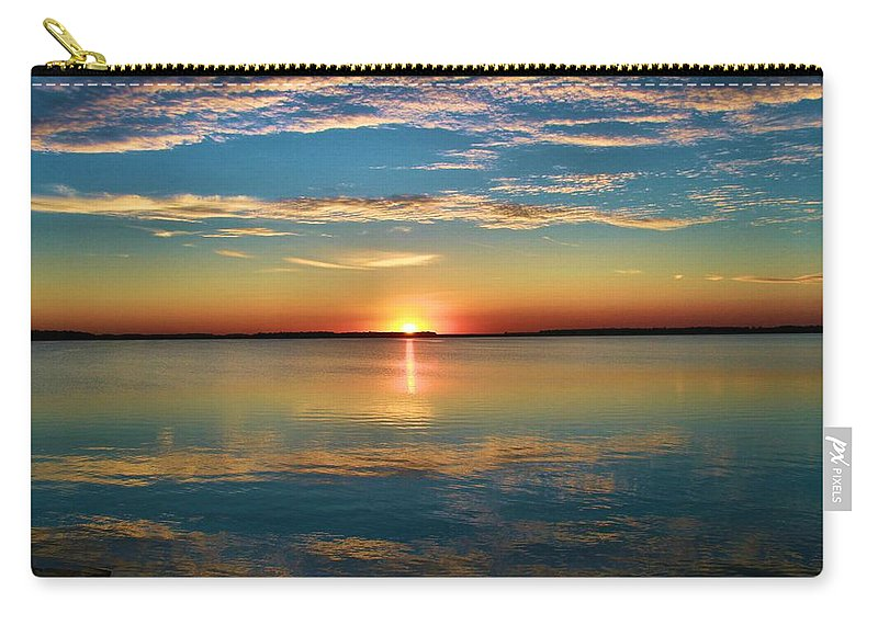 Lima Ohio Sunset Carry-all Pouch featuring the photograph Lima Ohio Sunset by Dan Sproul