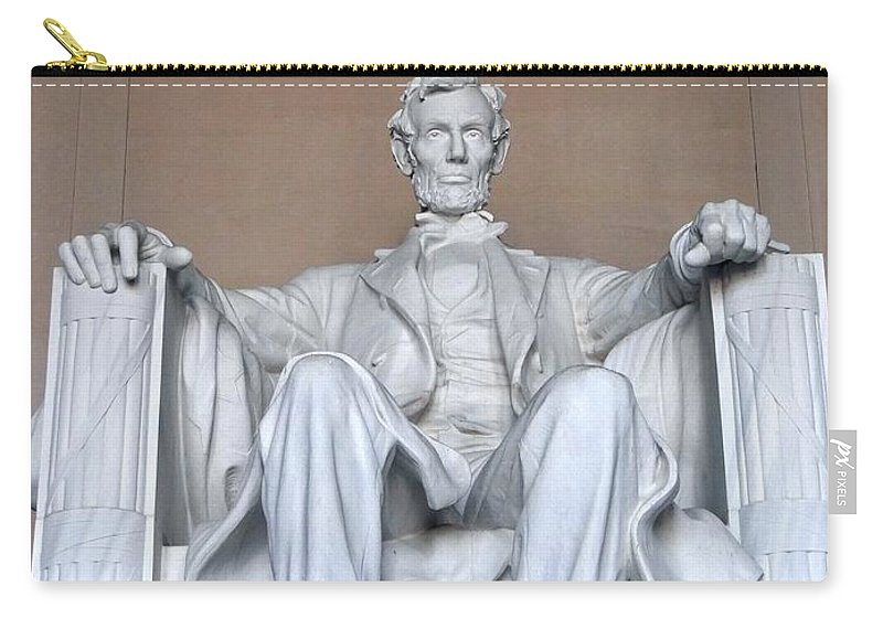 Abraham Lincoln Carry-all Pouch featuring the photograph Lincoln Memorial by Ed Weidman