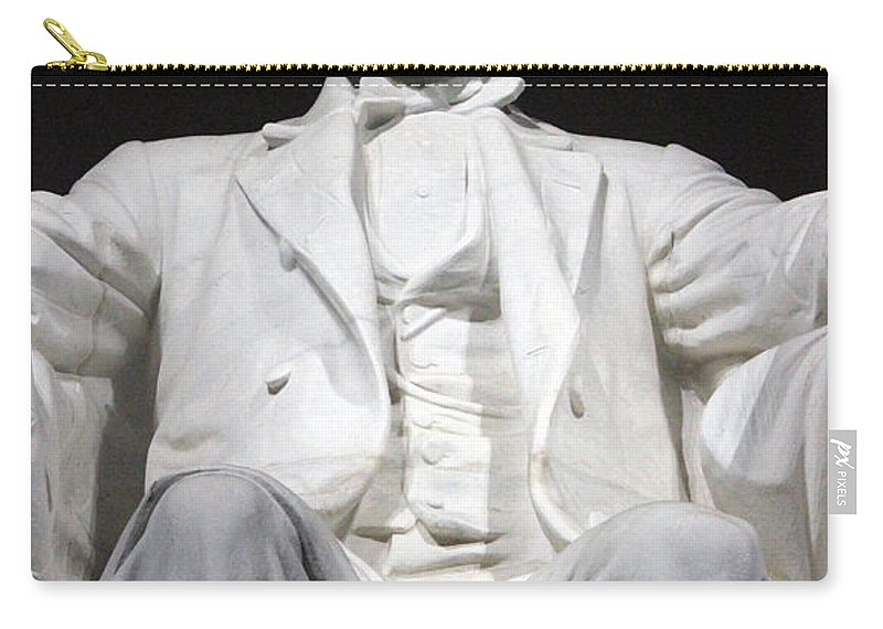 Abraham Lincoln Carry-all Pouch featuring the photograph Lincoln1 by Carolyn Stagger Cokley