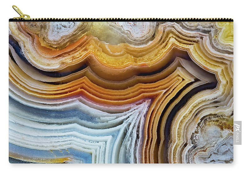Geology Carry-all Pouch featuring the photograph Lines And Pattern In Agua Nueva Mexican by Darrell Gulin