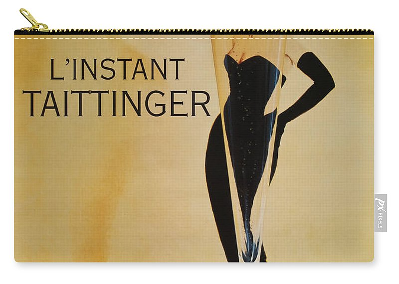 L'instant Taittanger Carry-all Pouch featuring the digital art L'Instant Taittinger by Georgia Fowler