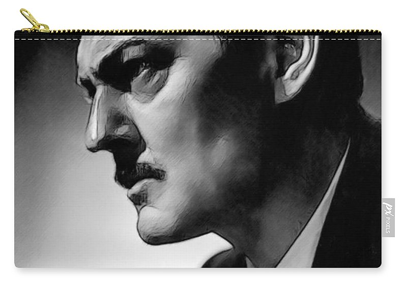 Celebrity Carry-all Pouch featuring the drawing Lionel Barrymore 002 by Dean Wittle