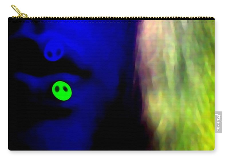 Blue Carry-all Pouch featuring the photograph Lips Of Peace by Jessica Shelton