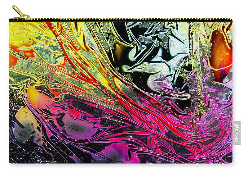 Surrealism Carry-all Pouch featuring the digital art Liquid Decalcomaniac Desires 1 by Otto Rapp