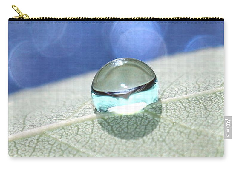 Macro Carry-all Pouch featuring the photograph Liquid Drop by Krissy Katsimbras