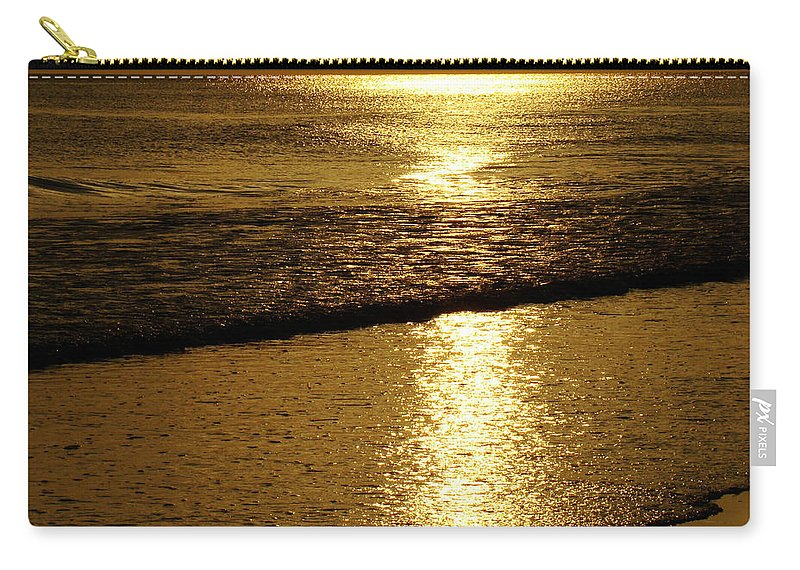 Panama City Beach Carry-all Pouch featuring the photograph Liquid Gold by Sandy Keeton