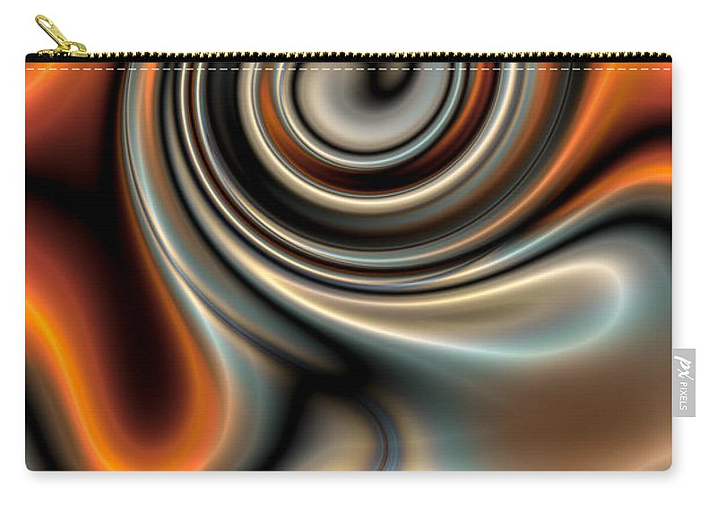 Liquid Carry-all Pouch featuring the digital art Liquid Mercury And Rust 2 by Hakon Soreide