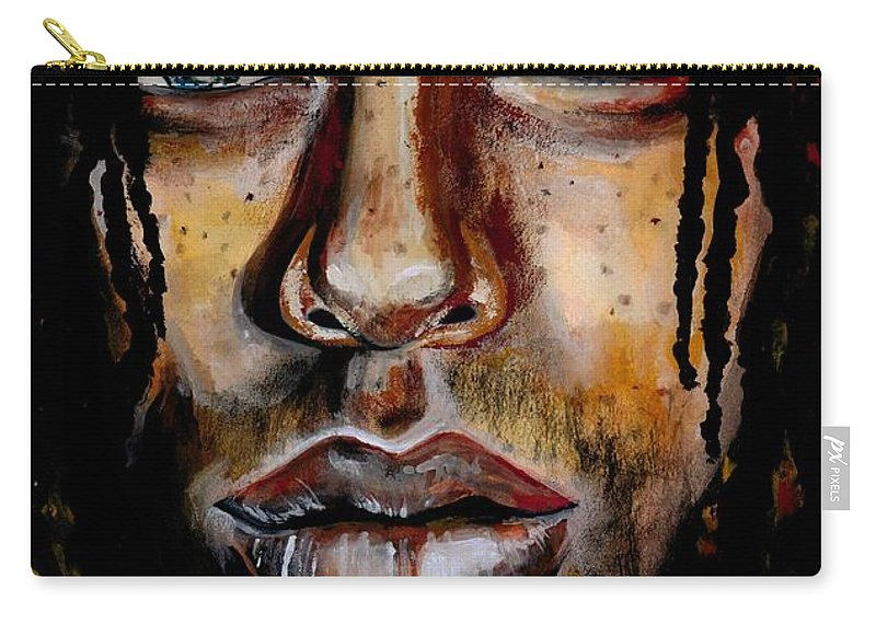 Sexy Carry-all Pouch featuring the photograph Liquid Stare by Artist RiA