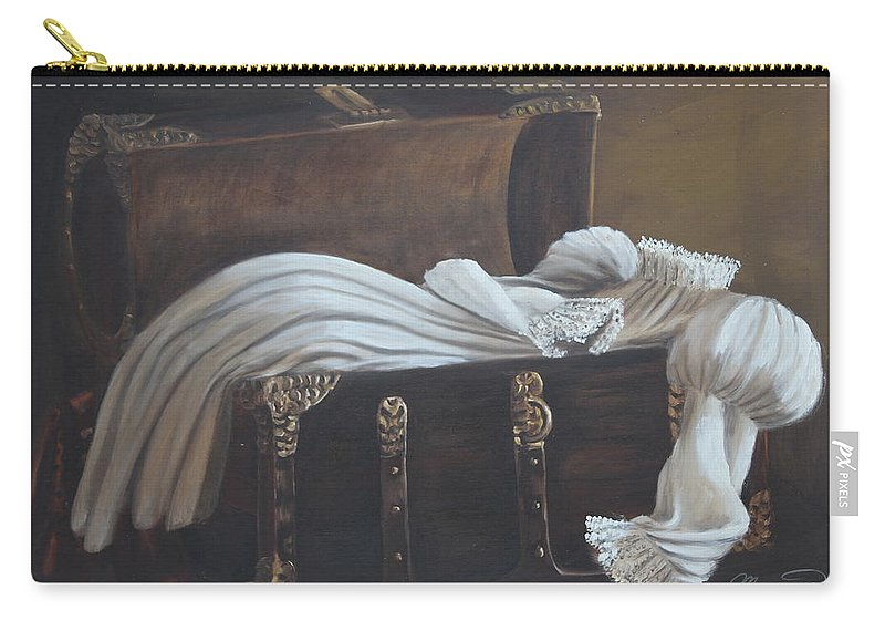 Still Carry-all Pouch featuring the painting Lisa's Gown by Lou Magoncia