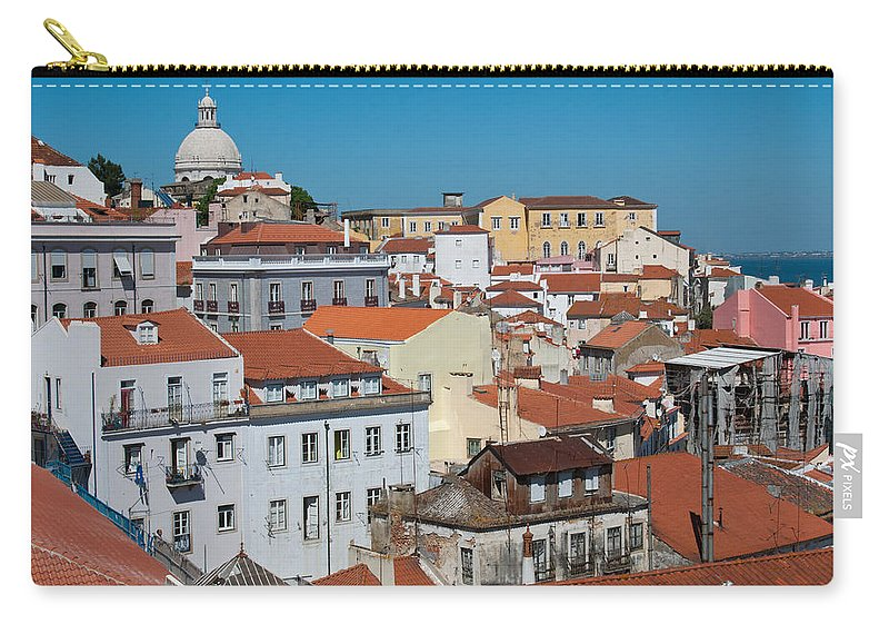 Lisbon Carry-all Pouch featuring the photograph Lisbon Alfama District by Cascade Colors