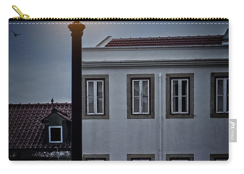 Alfama Carry-all Pouch featuring the photograph Lisbon Street Lamp by Carlos Caetano