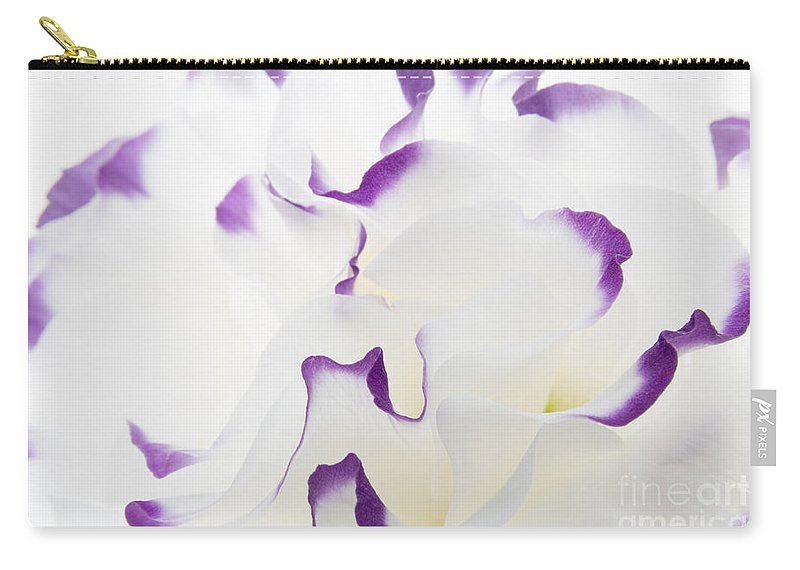 Lisianthus Carry-all Pouch featuring the photograph Lisianthus Frill by Ann Garrett