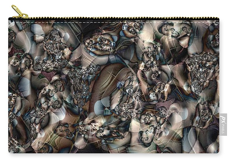 Abstract Carry-all Pouch featuring the digital art Listening by Ron Bissett