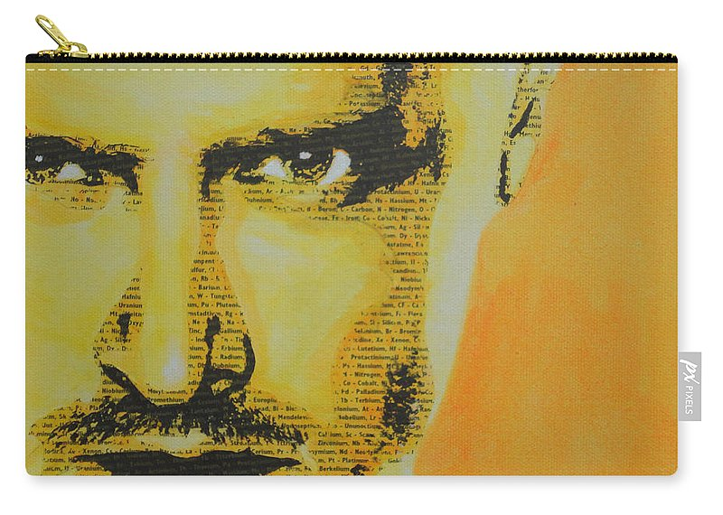 Jesse Pinkman Carry-all Pouch featuring the painting Literally Jesse Pinkman by Gary Hogben