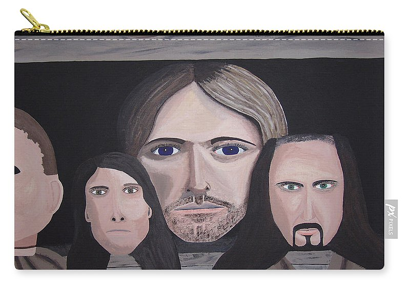 Original Carry-all Pouch featuring the painting Lithium by Dean Stephens