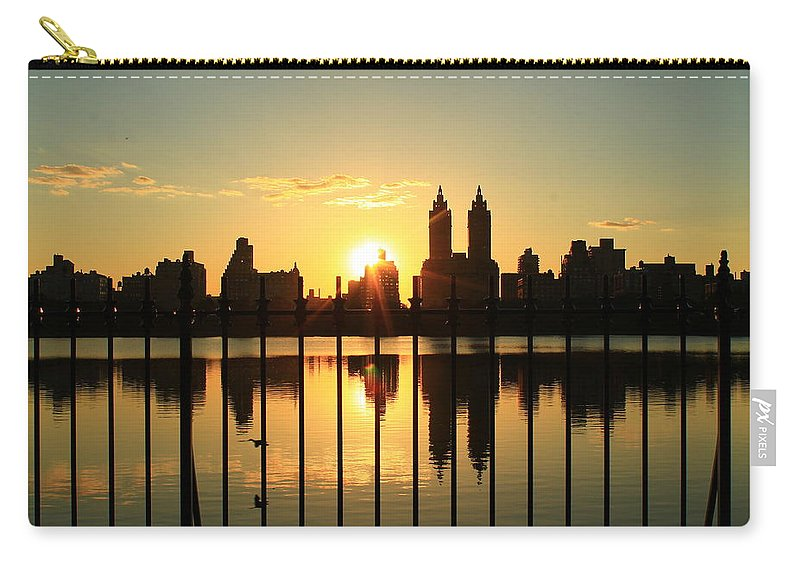 Central Park Carry-all Pouch featuring the photograph Little Bird In There by Catie Canetti