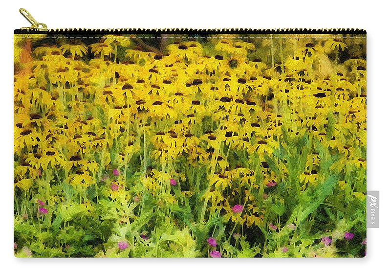 Flowers Carry-all Pouch featuring the photograph Little Bits Of Yellow by Alice Gipson