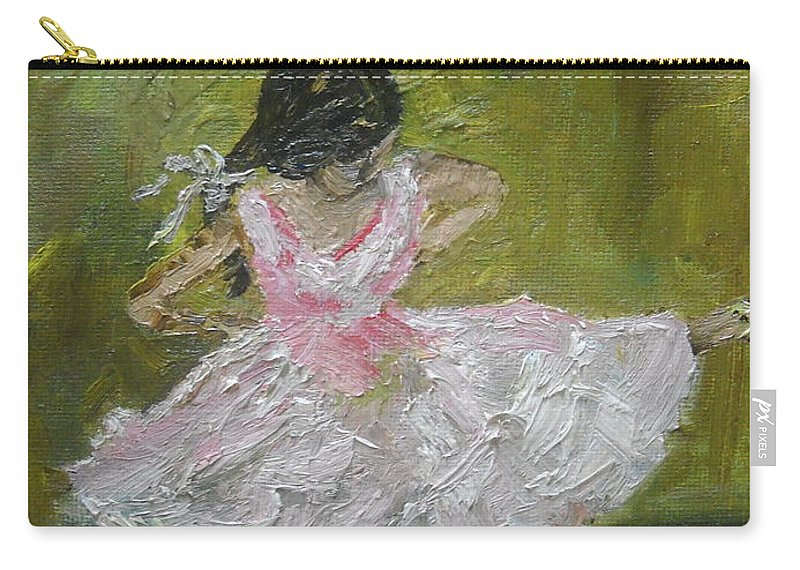Girl Carry-all Pouch featuring the painting Little Dansarina by Reina Resto