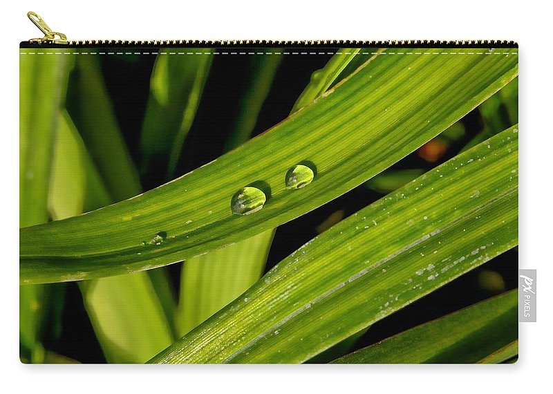 Water Carry-all Pouch featuring the photograph Little Drops by Adam Vance