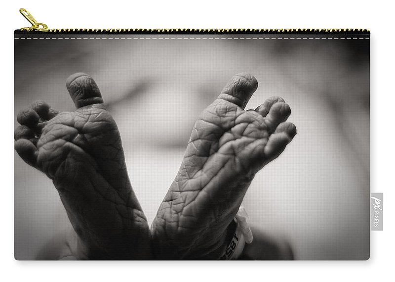 3scape Photos Carry-all Pouch featuring the photograph Little Feet by Adam Romanowicz