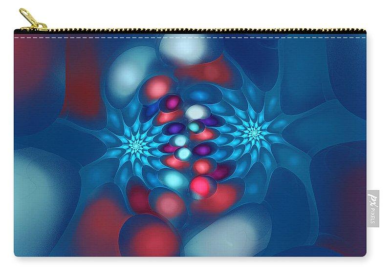 Fractal Carry-all Pouch featuring the digital art Little Flowers by Jutta Maria Pusl