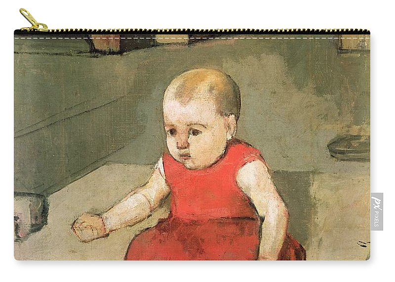 Baby Carry-all Pouch featuring the painting Little Hector On The Floor, 1889 by Ferdinand Hodler