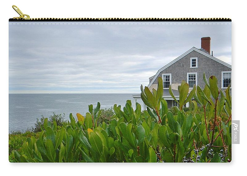 Sea Carry-all Pouch featuring the photograph Little House By The Sea by Jean Goodwin Brooks