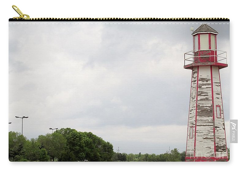 Little Lighthouse Carry-all Pouch featuring the photograph Little Lighthouse by Don Baker