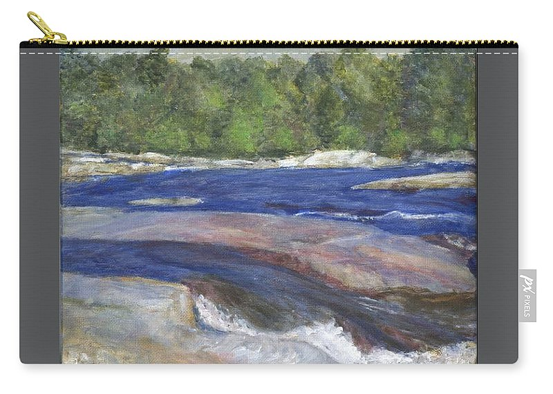 Moose River Carry-all Pouch featuring the painting Little Rapids by Sheila Mashaw