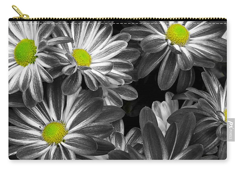 Flowers Carry-all Pouch featuring the photograph Little Rays Of Sunshine by Frozen in Time Fine Art Photography