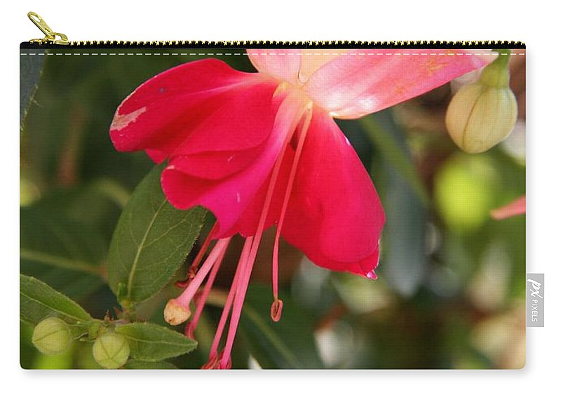 Fuchsia Carry-all Pouch featuring the photograph Little Red Skirt by Christiane Schulze Art And Photography