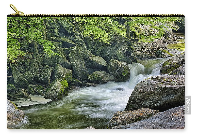 Water Carry-all Pouch featuring the photograph Little River Scenery E226 by Wendell Franks