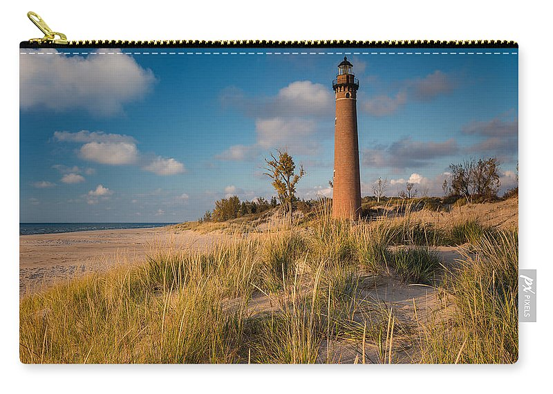 Light Carry-all Pouch featuring the photograph Little Sable Light Michigan by Steve Gadomski