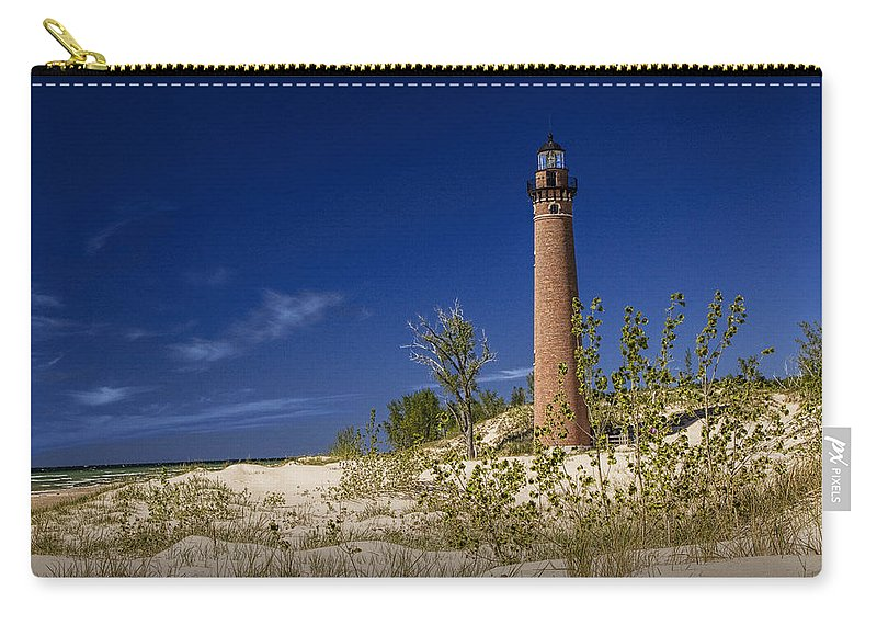 Art Carry-all Pouch featuring the photograph Little Sable Point Light No.0285 by Randall Nyhof