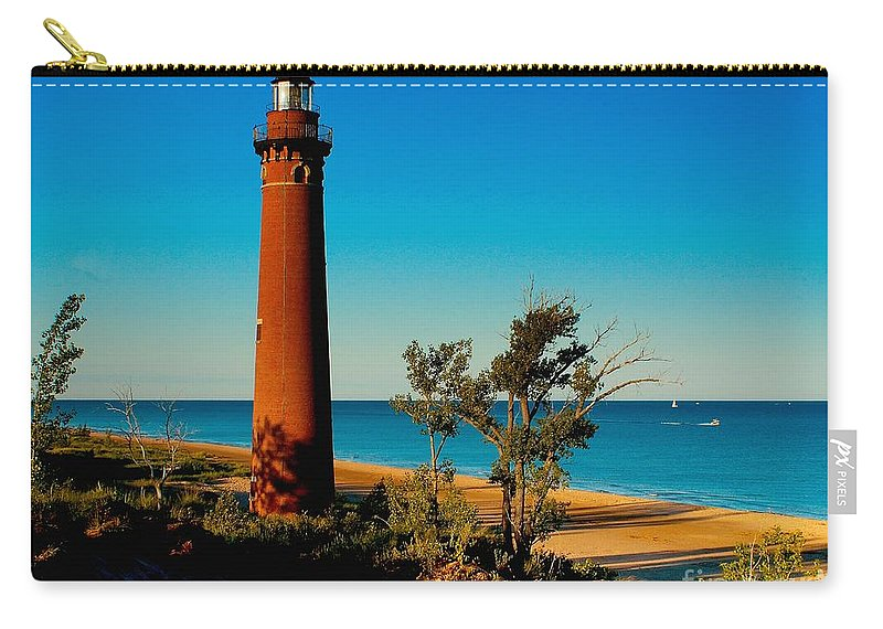 Sable Carry-all Pouch featuring the photograph Little Sable Point by Nick Zelinsky
