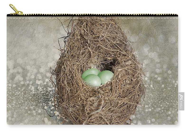 Egg Carry-all Pouch featuring the photograph Little Treasures by Linda Lees