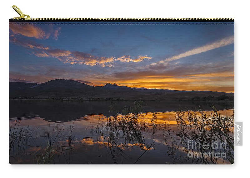 Sky Carry-all Pouch featuring the photograph Little Washoe Summer Reflections by Dianne Phelps