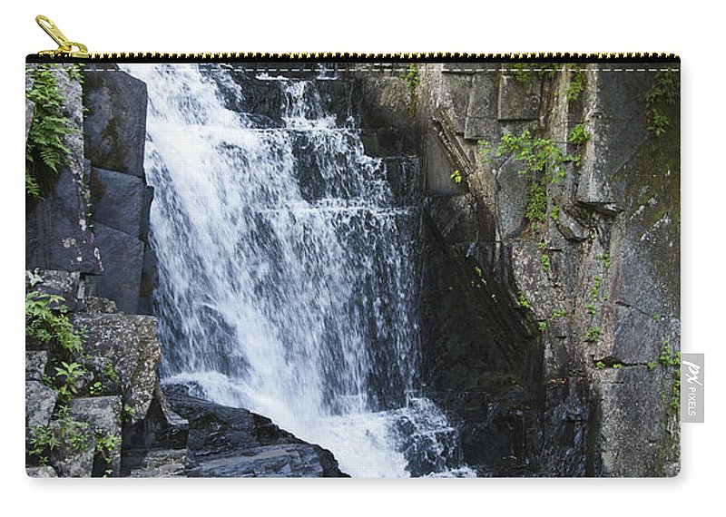 Maine Carry-all Pouch featuring the photograph Little Wilson Falls Maine by Glenn Gordon