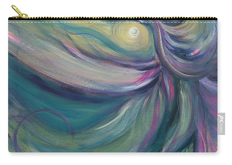 Dance Carry-all Pouch featuring the painting Liturgical Dance by Nadine Rippelmeyer