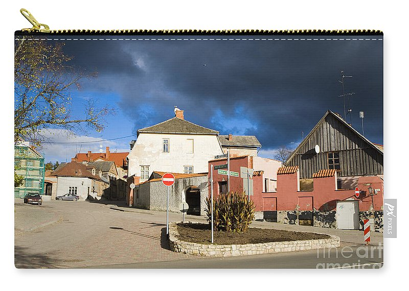 Travel Carry-all Pouch featuring the photograph Liv Square Cesis by Jason O Watson