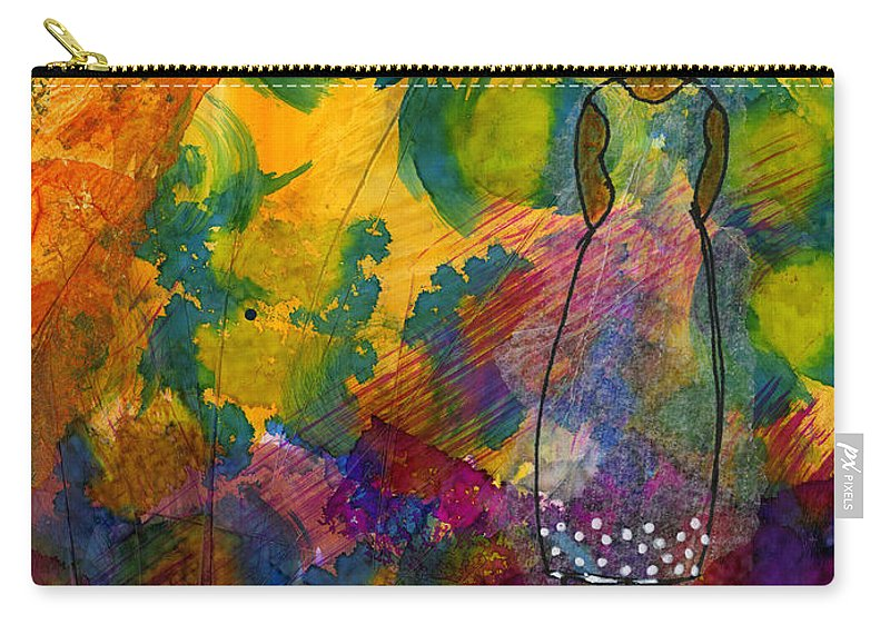 Women Carry-all Pouch featuring the mixed media Live For Today - Journal Art - Wip by Angela L Walker