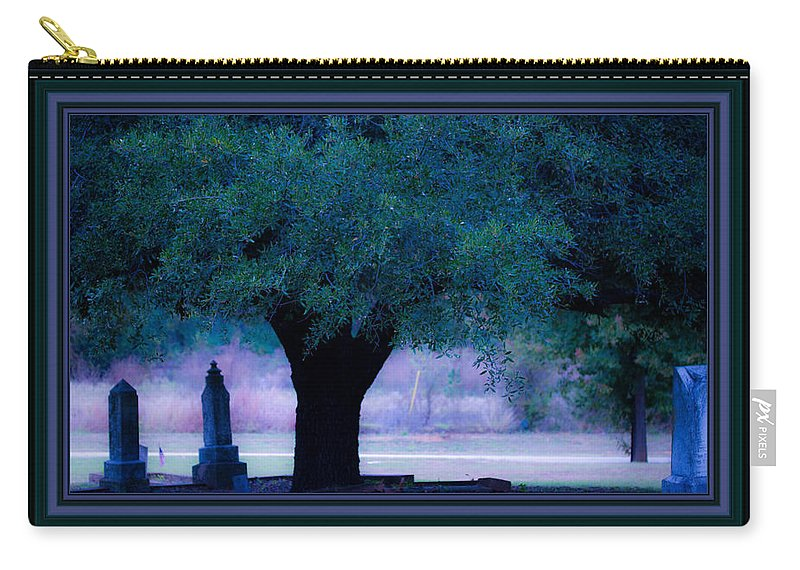 Cemetery Carry-all Pouch featuring the photograph Live Oak Tree In Cemetery by Marie Jamieson