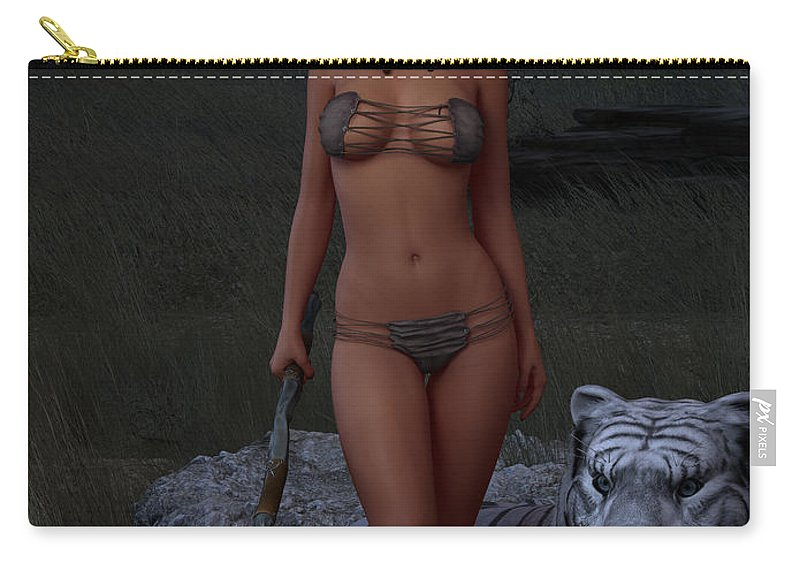 3d Carry-all Pouch featuring the digital art Live Wild And Free by Alexander Butler