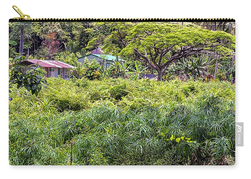 Buildings Carry-all Pouch featuring the photograph Living Off The Grid In The Waipi'o Valley by Jim Thompson