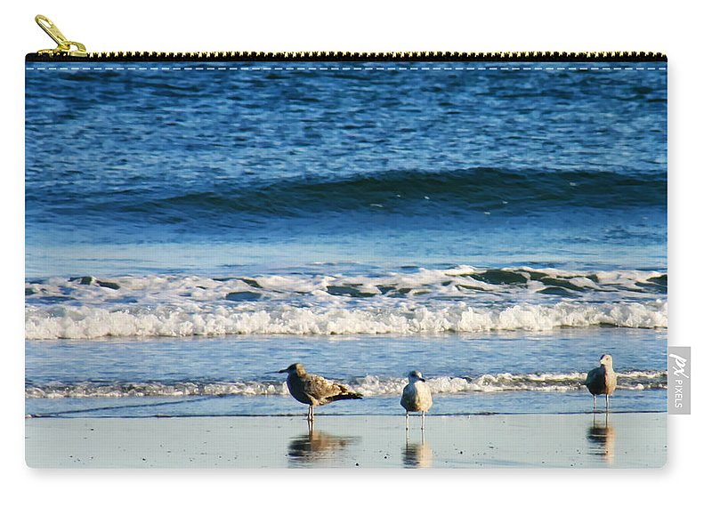 Living On The Edge Carry-all Pouch featuring the photograph Living On The Edge by Denyse Duhaime
