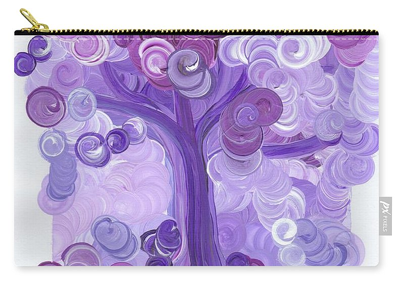First Star Carry-all Pouch featuring the painting Liz Dixon's Tree Purple by First Star Art