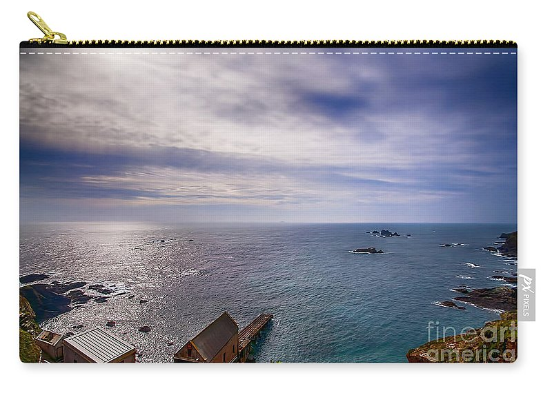 Lizard Canvas Carry-all Pouch featuring the photograph Lizard Point Cornwall by Chris Thaxter