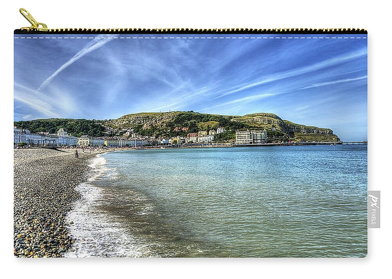 Beach Carry-all Pouch featuring the photograph Llandudno Beach by Svetlana Sewell